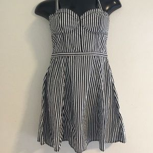 Divided by H&M Black & White Striped Dress